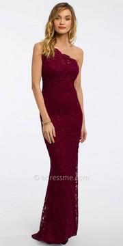 Camille La Vie Scallop Lace One Shoulder Evening Dress