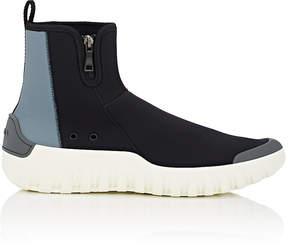 Prada Men's Side-Zip Neoprene Sneakers