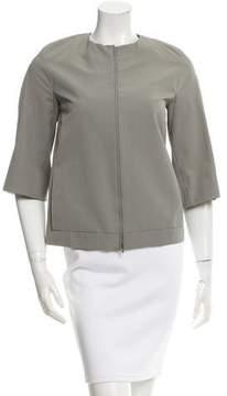 Calvin Klein Collection Collarless Zip-Up Jacket