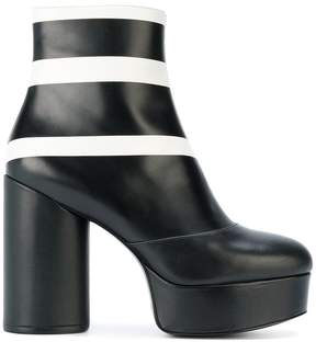 Marc Jacobs striped Amber platform ankle boots