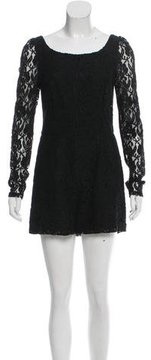 ALICE by Temperley Long Sleeve Lace Romper