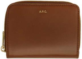A.P.C. Brown Compact Emmanuelle Wallet