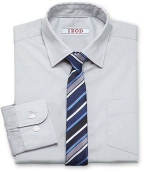 Izod Shirt and Clip-On Tie Set Preschool Boys 4-7