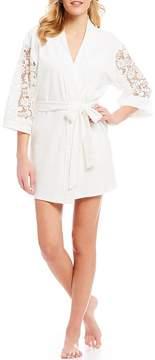 Flora Nikrooz Lana Knit & Lace Wrap Robe
