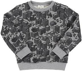 Paul Smith Kids' City-Print Stretch-Cotton French Terry Sweatshirt