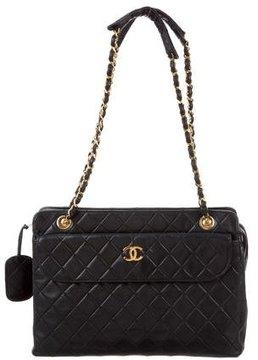Chanel Quilted CC Shoulder Bag