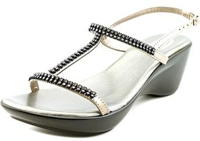 Callisto Emma Open Toe Leather Wedge Sandal.