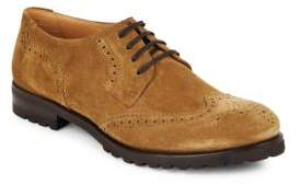 Harry's of London Suede Wingtip Lace-Up Oxfords