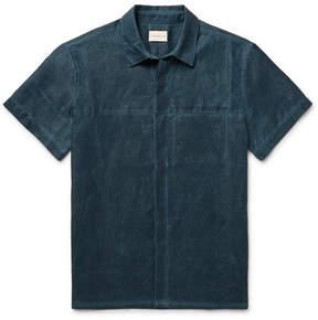 Simon Miller Slim-Fit Distressed Cotton Shirt