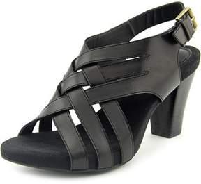Giani Bernini Justyne Women Open Toe Leather Green Sandals.