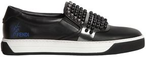 Karl Studded Leather Slip-On Sneakers