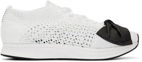 Comme des Garcons White Nike Edition Customized Racer Sneakers