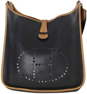 Hermes Evelyne leather handbag - BLACK - STYLE