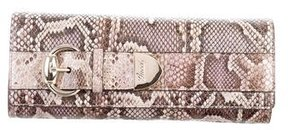 Gucci Python Romy Clutch - BROWN - STYLE