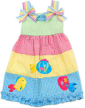 Rare Editions Toddler Girls Colorblocked Gingham Seersucker Dress