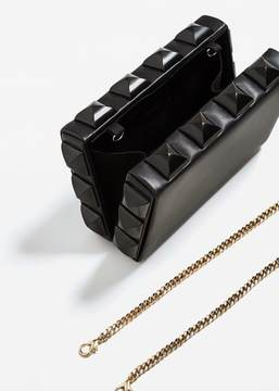 MANGO Studded clutch