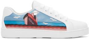 Prada White Croisiere Sneakers