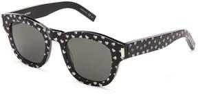 Saint Laurent BOLD2 Heart Print Round Sunglasses