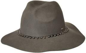 Scala Wool Felt Rancher w/ Metal Caps