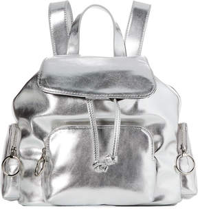 French Connection Silver Henley Small Backpack