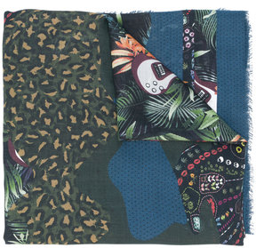 Zadig & Voltaire guitar and jungle print scarf