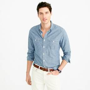 J.Crew Slim selvedge Japanese chambray utility shirt
