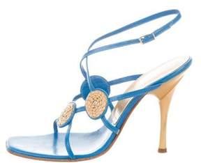 Casadei Leather Embellished Sandals