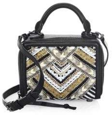 Rebecca Minkoff Wonderbox Beaded Crossbody Bag - BLACK - STYLE