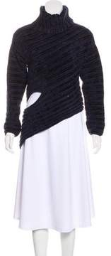 Esteban Cortazar Velvet Asymmetrical Sweater