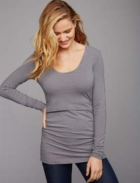 A Pea in the Pod Pull Down Drape Front Nursing Top