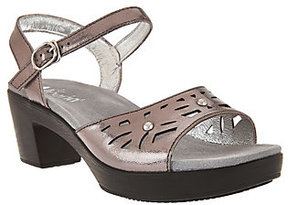 Alegria As Is Leather Sandals w/ Perforations & Ankle Strap