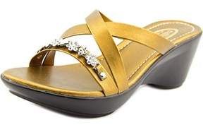Callisto Angie Women Open Toe Leather Wedge Heel.