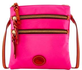 Dooney & Bourke Nylon North South Triple Zip Shoulder Bag - FUCHSIA - STYLE
