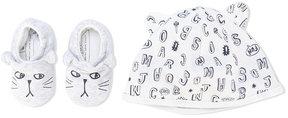 Little Marc Jacobs tiger slippers & hat set