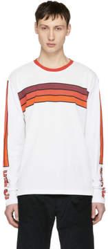 Kenzo White and Orange Logo Graphic T-Shirt