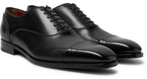 Ermenegildo Zegna Cap-Toe Polished-Leather Oxford Shoes