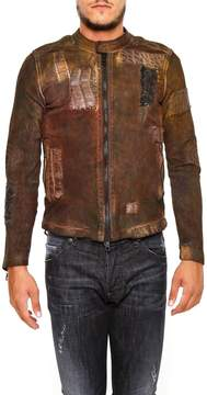 Giorgio Brato Leather Jacket With Croc Details