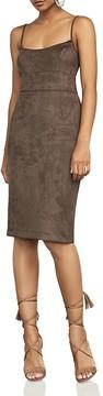 BCBGMAXAZRIA Alese Faux-Suede Dress