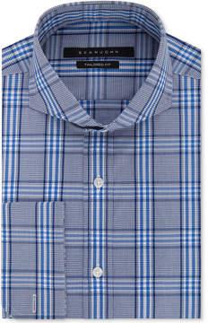 Sean John Men's Classic/Regular Fit Blue Check French Cuff Dress Shirt