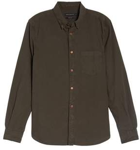 French Connection Men's Peached Oxford Sport Shirt