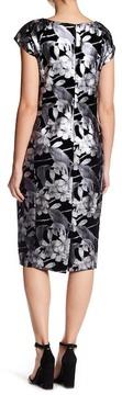ECI Foil Printed Velvet Dress