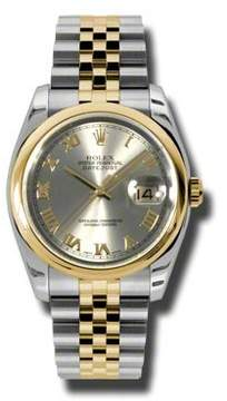 Rolex Datejust 36 Grey Dial Stainless Steel and 18K Yellow Gold Jubilee Bracelet Automatic Men's Watch