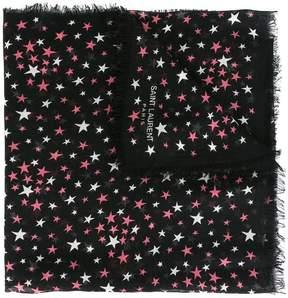Saint Laurent 'Étoiles' large printed scarf