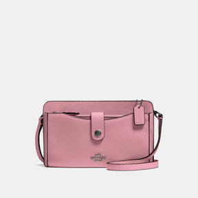 COACH Coach Pop-up Messenger - DARK GUNMETAL/DUSTY ROSE - STYLE