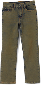 Buffalo David Bitton Rust Overdyed Wash Six-X Slim Straight-Leg Stretch Pants - Boys