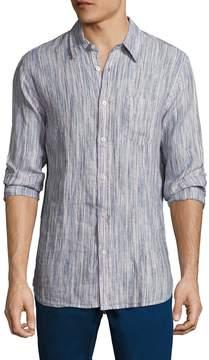 Jachs Men's Space Dye Straight Collar Sportshirt