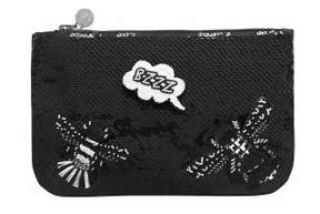 Forest of Chintz Black 'Buzz Off' Bag