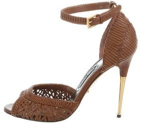 Tom Ford Leather Ankle-Strap Pumps