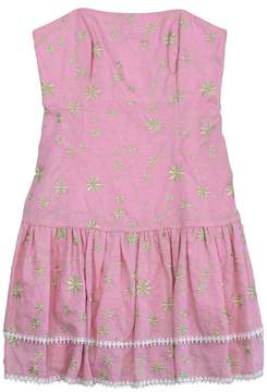 Lilly Pulitzer Floral Embroidery Strapless Dress
