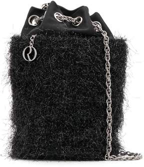 Rodo satin tinsel bucket bag